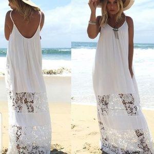 Womens New Size 14 Zanzea White Summer Dress Maxi